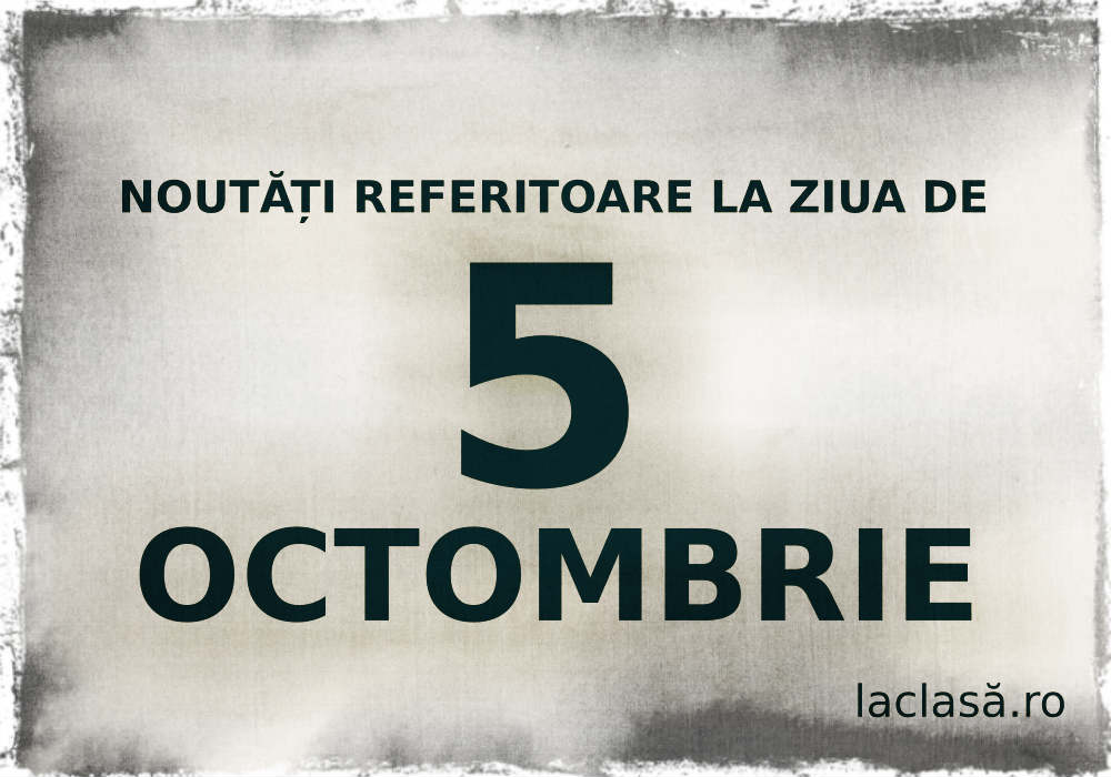 laclasă.ro, 5 octombrie, la clasă