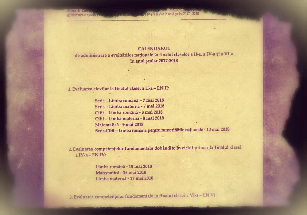 calendar evaluări naționale, laclasă.ro, la clasă